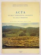 Acta of the 2nd International Colloquium on Aegean Prehistory